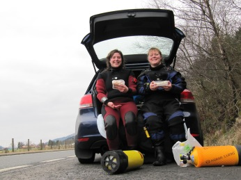 First dive of the year (March 2013) at Congar Alley, Loch Long.